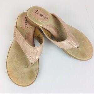 b.o.c. Zita Rose Gold Sandals Size 6